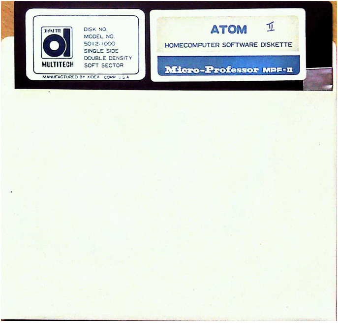 MPF-II  diskette ATOM Multitech